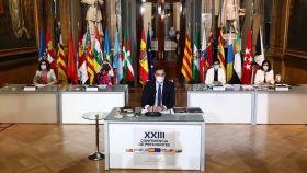 Pedro Sánchez preside la XXIII Conferencia de Presidentes, en el Senado.
