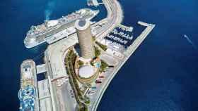 Infografía de la torre del puerto, diseñada por José Seguí.