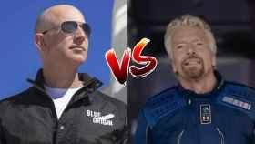 Jeff Bezos y Richard Branson