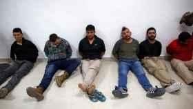 Mercenarios capturados tras el asesinato de Jovenel Moïse en Haití.