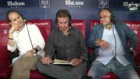 José Ramón de la Morena, junto a Carlos Bustillo y Roberto Gómez.