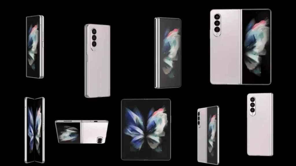 Galaxy Z Fold 3 en todos los ángulos posibles