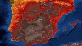El mapa de temperaturas máximas que alcanzará España.