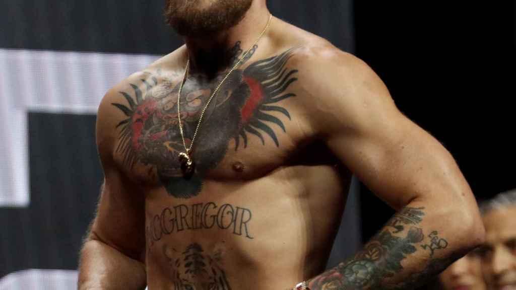 Conor McGregor, durante el pesaje de la UFC 264