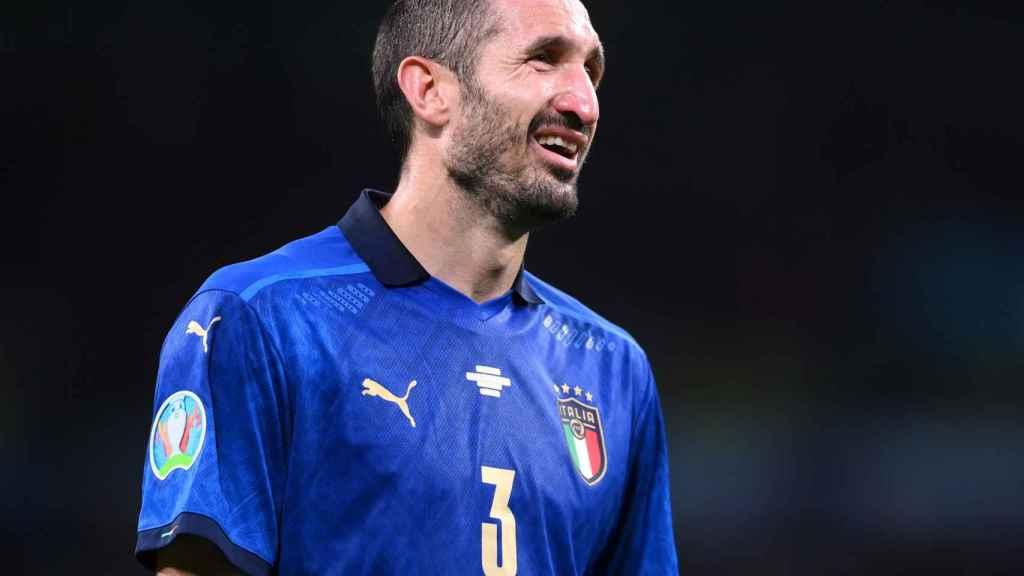 Giorgio Chiellini, en un partido de la selección de Italia en la Eurocopa 2020