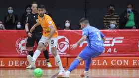 Lemine con su anterior equipo, jugando contra el Viña Albali. Foto: Twitter Lemine.