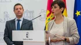 Isabel Rodríguez, nueva portavoz del Gobierno de España junto e Emiliano García-Page.