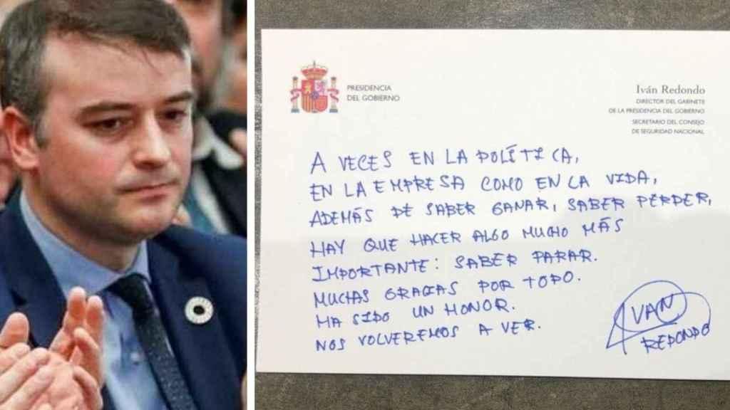 La carta de despedida de Iván Redondo: Hay que saber parar