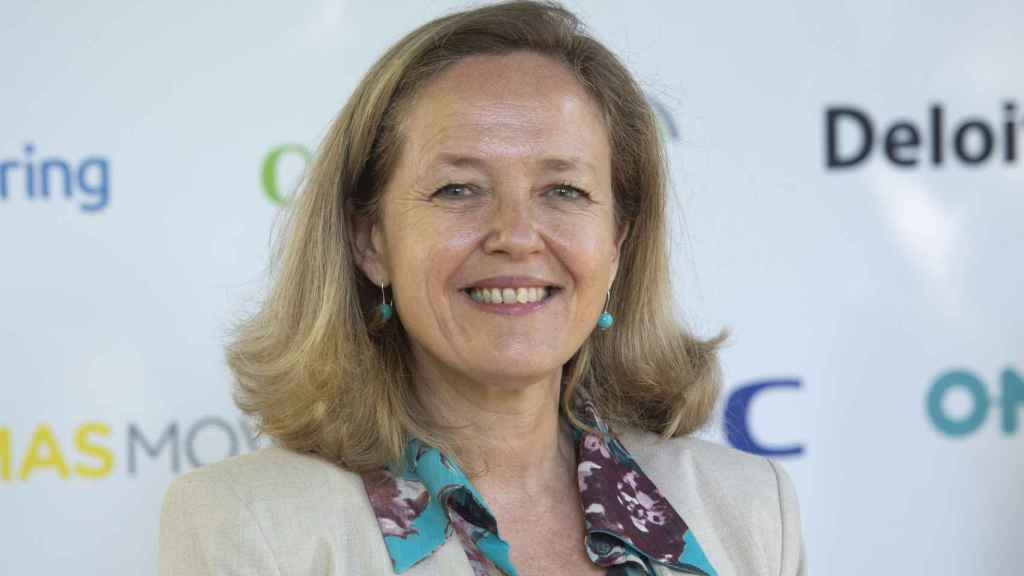 La vicepresidenta, Nadia Calviño.