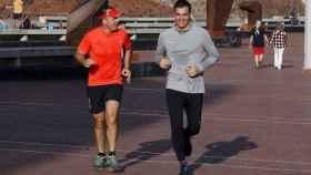Pedro Sánchez haciendo running.