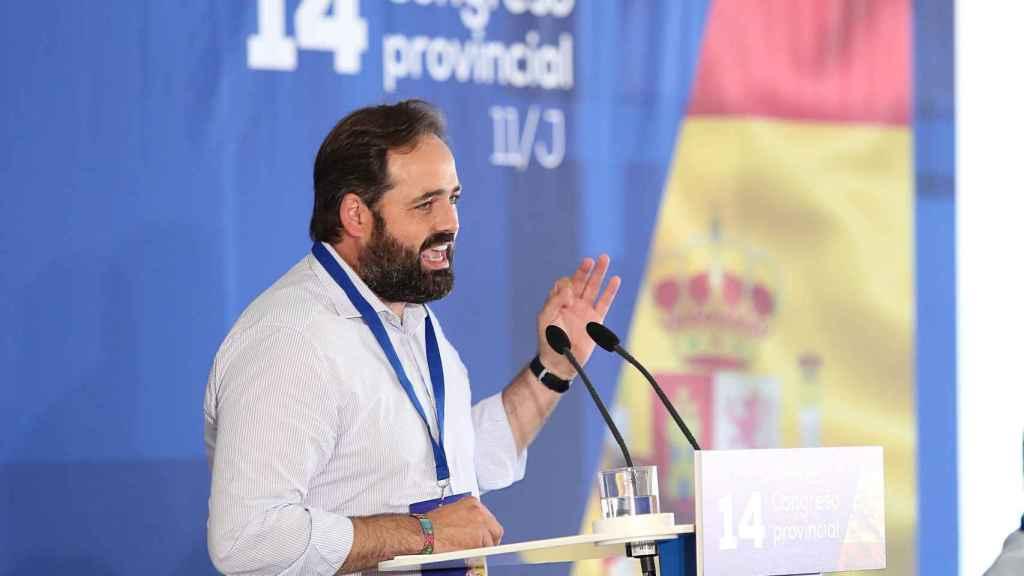 Paco Núñez, este domingo en el congreso provincial del PP de Toledo. Foto: Óscar Huertas