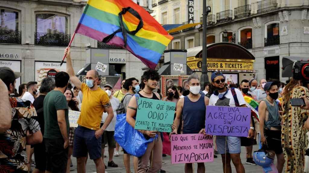 Manifestantes en Madrid.