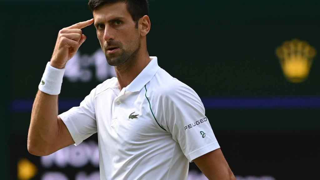 Djokovic, durante la final de Wimbledon.