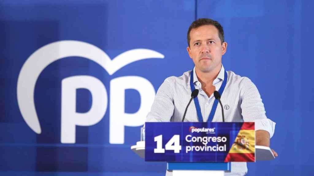 Carlos Velázquez, este domingo en el congreso provincial del PP de Toledo. Fotos: Óscar Huertas