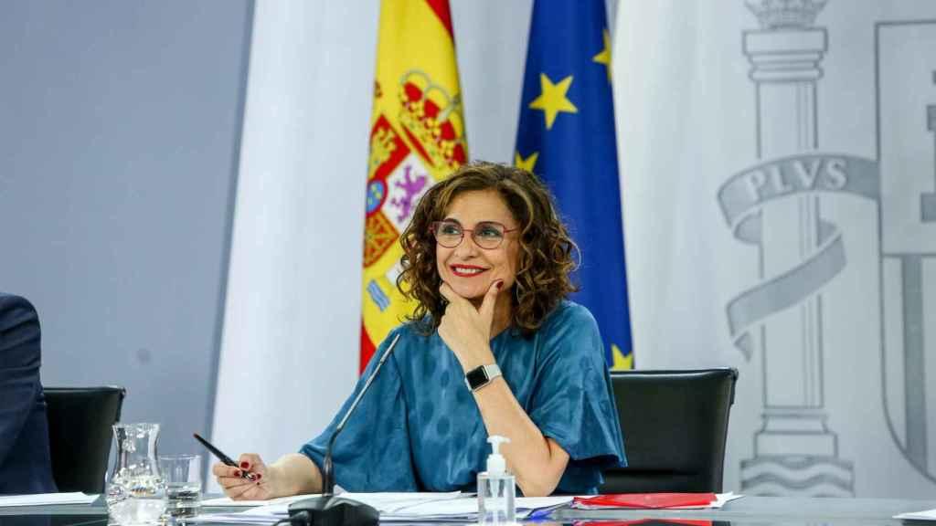 María Jesús Montero, ministra de Hacienda, tras el Consejo de Ministros.