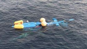 El helicóptero de Vigilancia Aduanera caído al mar esta madrugada.