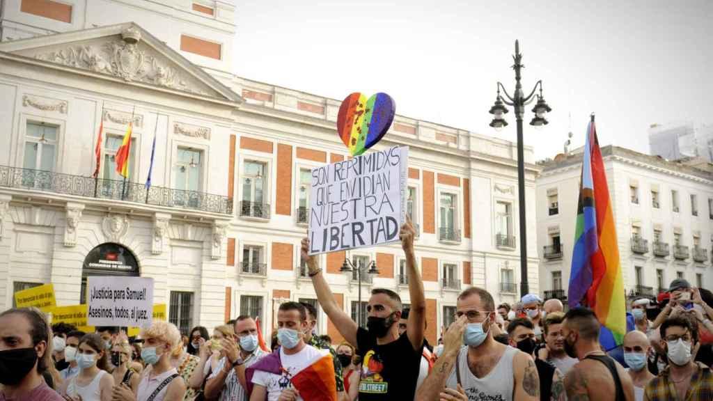 Miles de personas concentradas este domingo en Madrid.