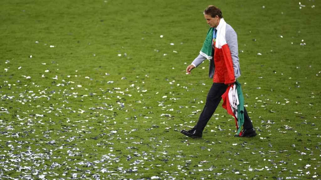 Roberto Mancini, tras la final de la Eurocopa