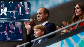 Guillermo de Inglaterra y Kate Middleton acudieron a Wembley junto a su hijo mayor para apoyar a su Selección en la final de la Euro2020.