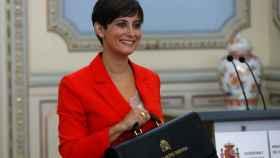 Isabel Rodríguez ha recibido este lunes su cartera de ministra de Política Territorial. Foto: J.J Guillén para EFE.