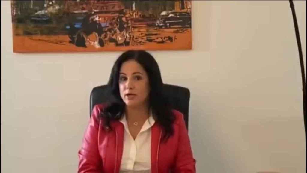 Idalmis Menéndez, en un vídeo de su canal en redes