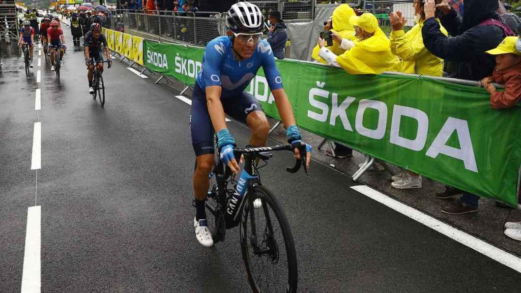 Enric Mas tras finalizar una etapa del Tour de Francia 2021