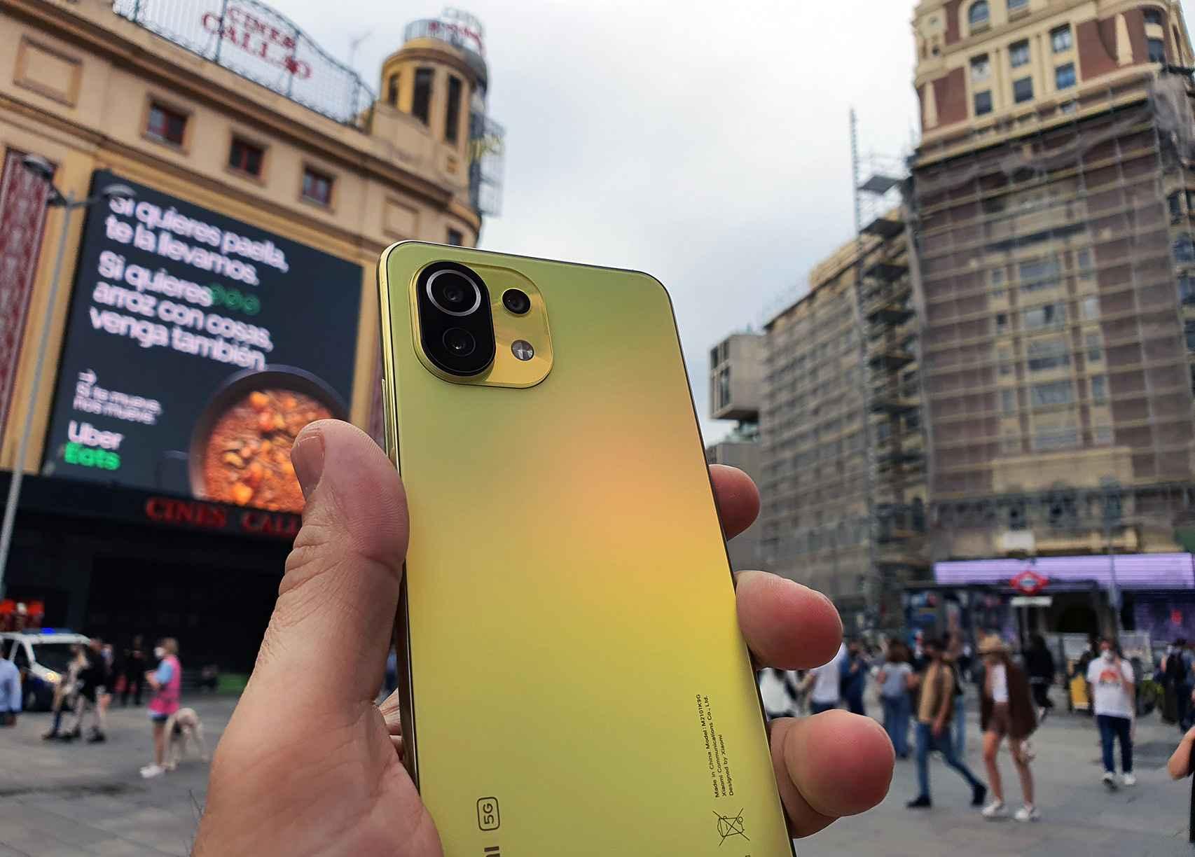 Xiaomi Mi 11 Lite 5G en plena Plaza de Callao