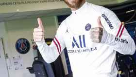 Sergio Ramos, en su primer día en el PSG