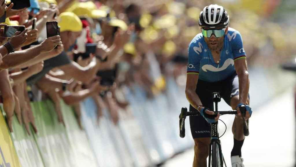 Alejandro Valverde en el Tour de Francia 2021