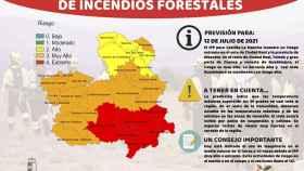 Riesgo extremo de incendios este lunes en las provincias de Ciudad Real y Albacete