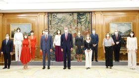 Toma posesión de los nuevos ministros con el presidente del Gobierno, Pedro Sánchez y el Rey Felipe VI