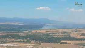 Una imagen del incendio publicada por el Plan INFOCAM en Twitter