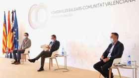 Una de las mesas sobre economía azul de la cumbre entre Baleares y la Comunidad Valenciana.