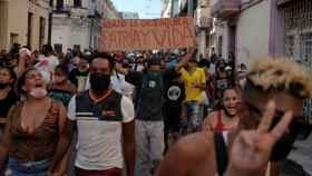 Abajo la dictadura: los cubanos protestan contra el Gobierno en la marcha más grande desde 1994