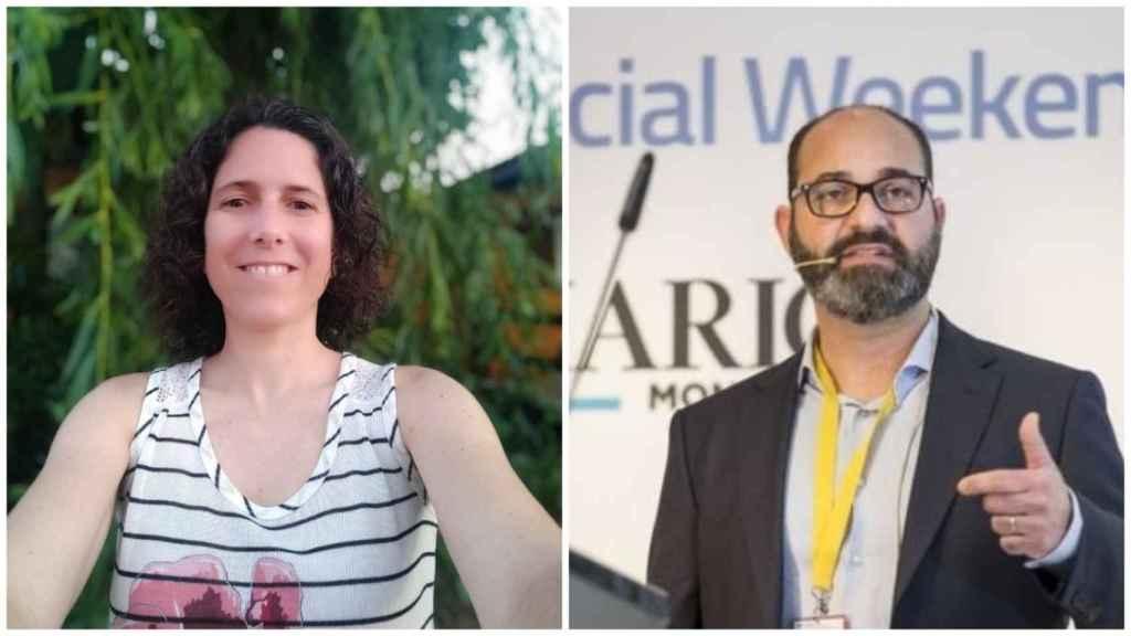 Pilar, ingieniera técnica agrónoma, de Zaragoza (izquierda) y Jesús, ingeniero informático, de Santander (derecha).