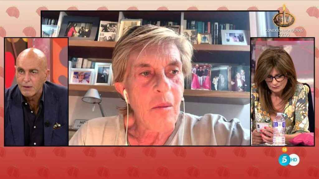 Chelo, en su intervención por videollamada en 'Sálvame'