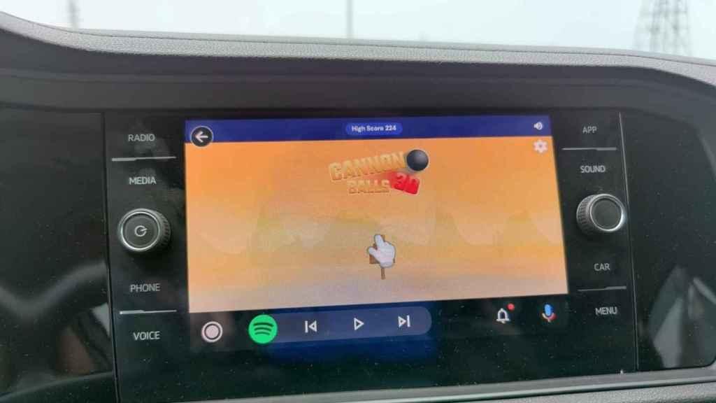 Android Auto minijuegos Gamesnacks