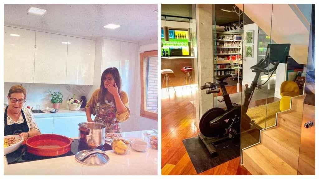 A la izquierda, la cocina; a la derecha, al fondo, se aprecia la zona de lectura.