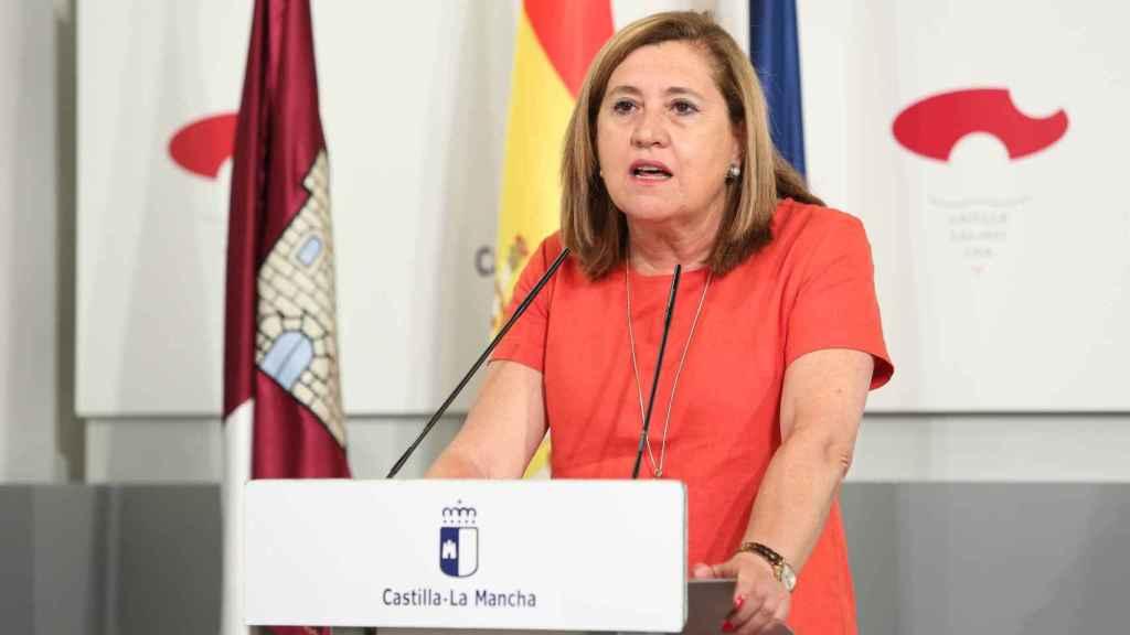 La consejera de Educación, Rosana Rodríguez, este martes en rueda de prensa. Foto: Óscar Huertas
