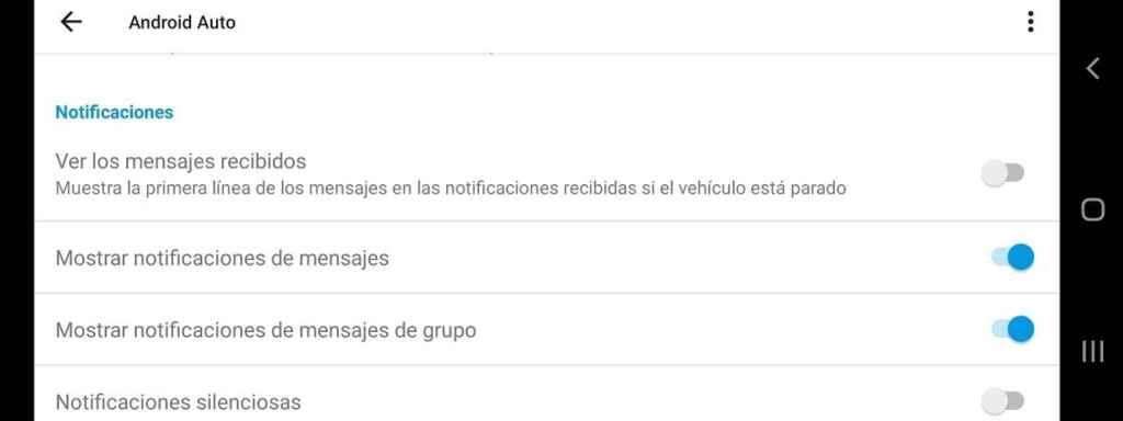 Notificaciones Android Auto