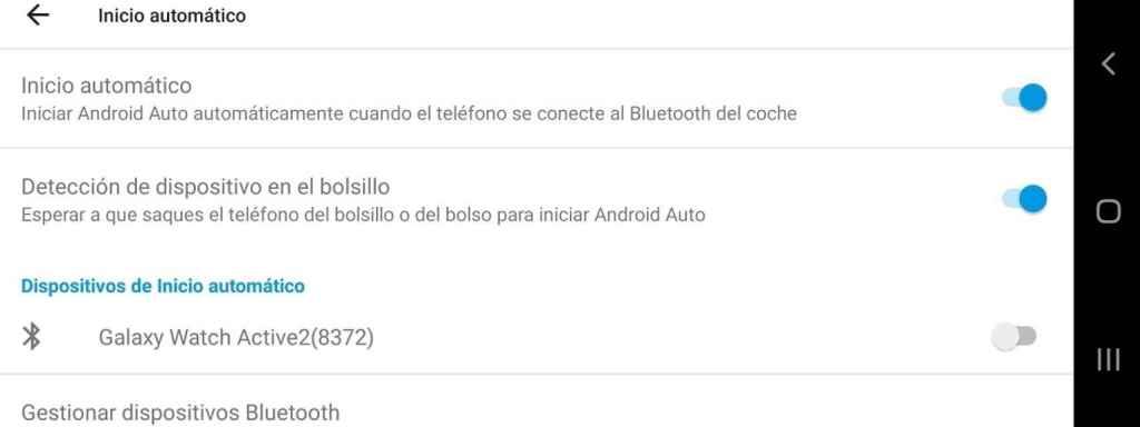 Android Auto inicio automatico