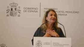 Raquel Sánchez en sus primeros momentos como ministra.