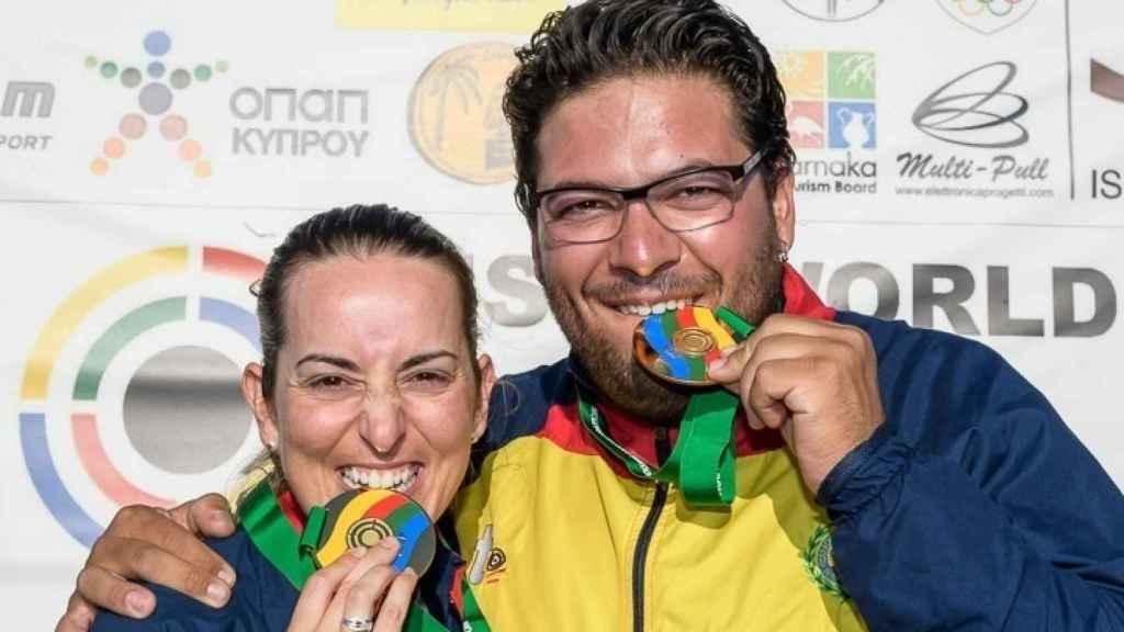 Fátima Gálvez y Alberto Fernández, durante una competición de 2017