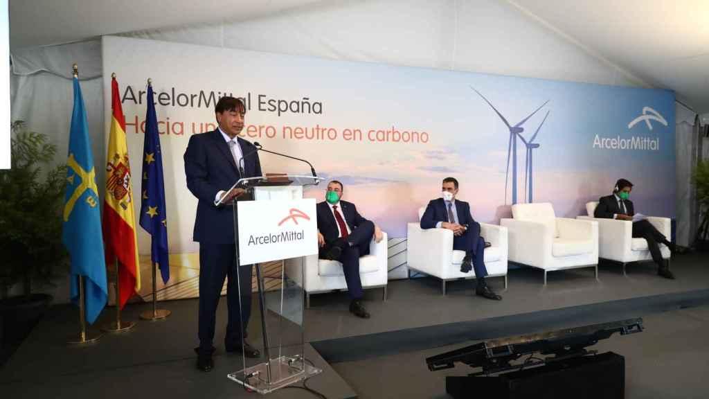 Encuentro entre Acerinox y el presidente del Gobierno, Pedro Sánchez