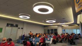 El Galatasaray, en el aeropuerto