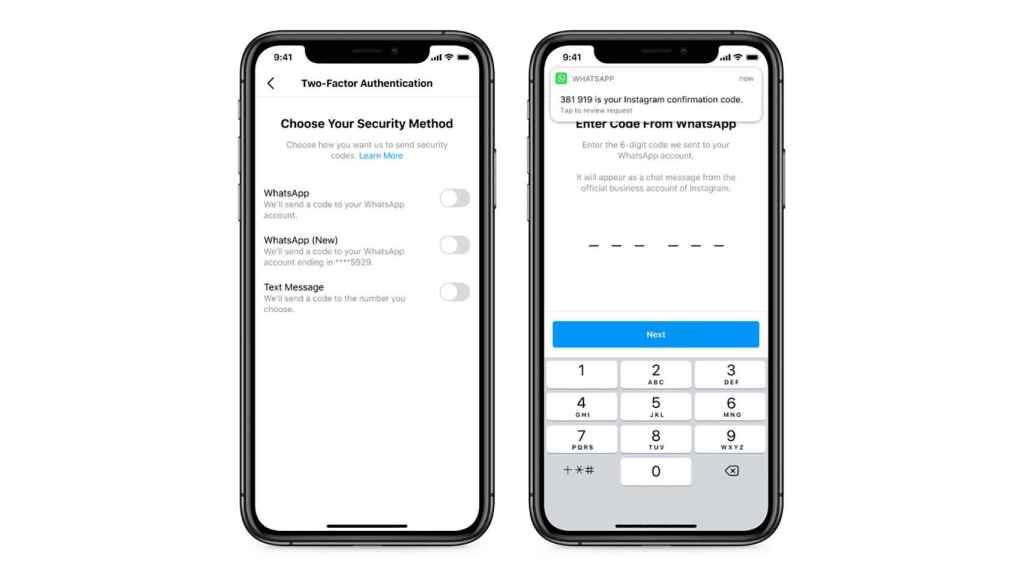 Autenticación en 2 pasos a través de WhatsApp