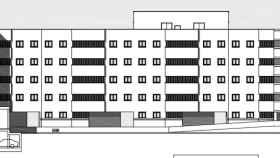 El edificio de viviendas tendrá una altura de cinco plantas y se distribuirá en dos bloques