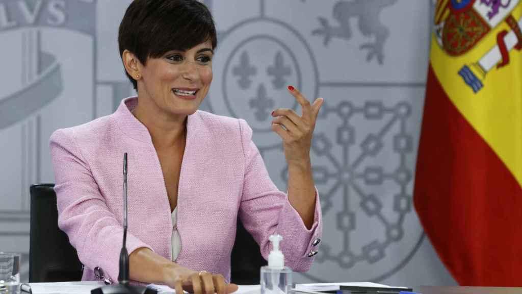 Isabel Rodríguez, portavoz del Gobierno, en la rueda de prensa posterior al Consejo de Ministros.