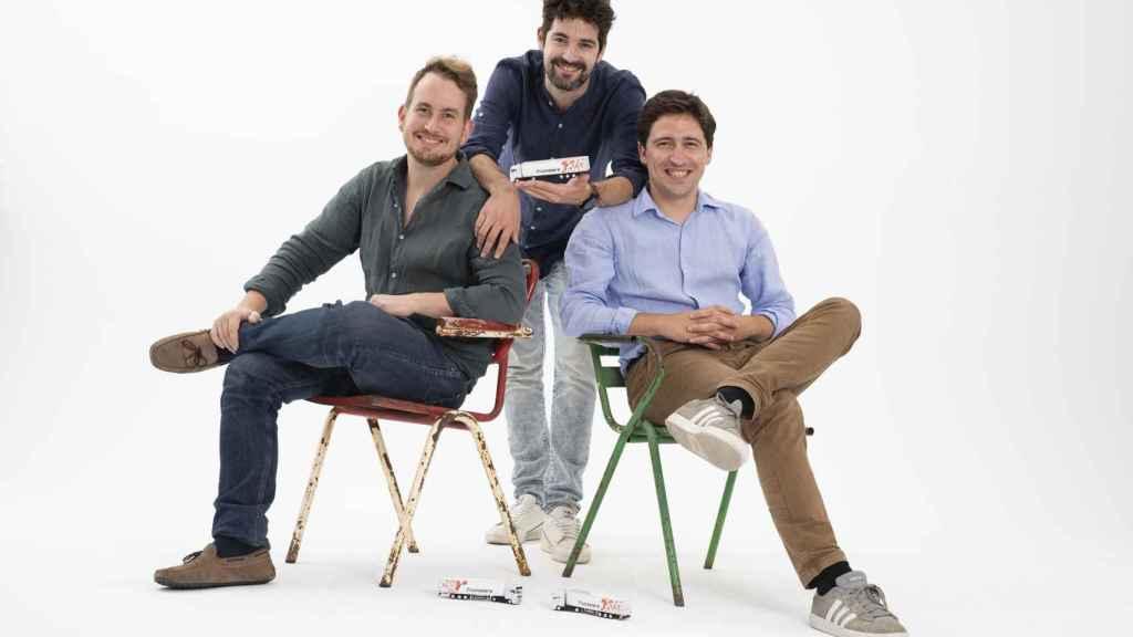 Gabor Balogh, Ramón Castro y Luis Bardaji (de izquierda a derecha), fundadores de Trucksters.