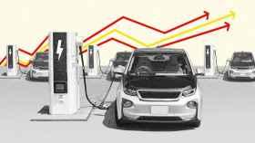 Imagen sobre coche eléctrico diseñada por El Español.